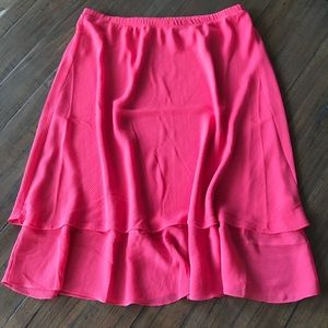 Appleseed's size 18 pink tiered ruffle skirt